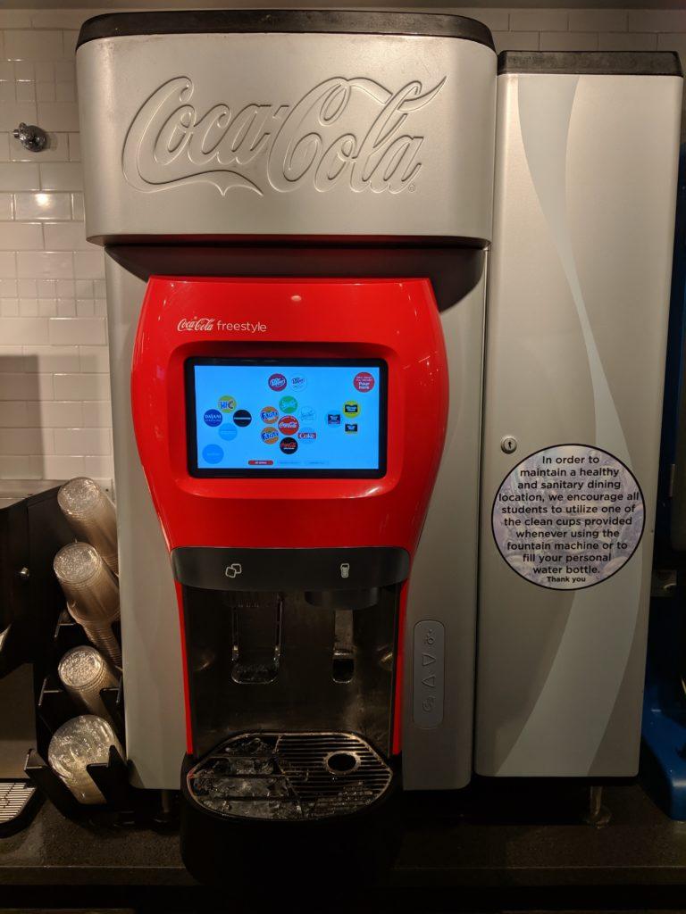 a hi-tech soda dispenser